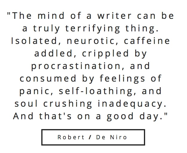 Robert De Niro Quote On Writing